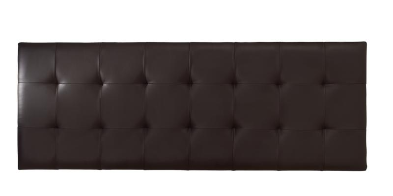 SERENE Romana Brown Faux Leather Headboard